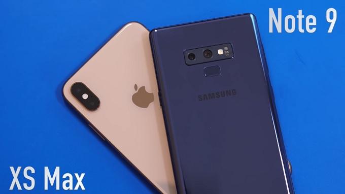 thiet-ke-galaxy-note-9-vs-iphone-xs-max-xtmobile