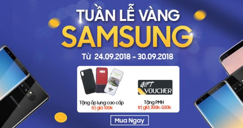 Tuần lễ vàng Samsung - Mua điện thoại nhận 500K kèm ốp lưng cao cấp