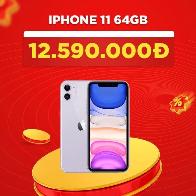 iPhone 11 64GB cũ giảm thêm 1.900.000đ