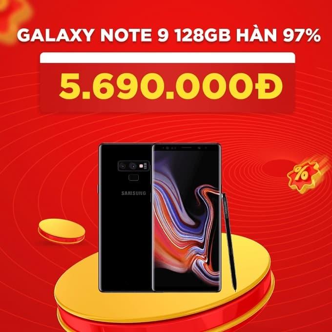 Galaxy Note 9 128GB Hàn 97% giảm thêm 1.400.000đ