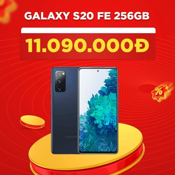 Galaxy S20 FE 256GB (CTY) giảm thêm đến 4.400.000đ