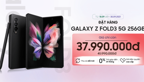 Galaxy Z Fold3 5G giảm sốc đến 4 triệu kèm theo loạt ưu đãi đặc quyền cao cấp