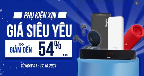 Phụ kiện sale sốc: Pin dự phòng, loa, tai nghe Bluetooth giảm đến 54%