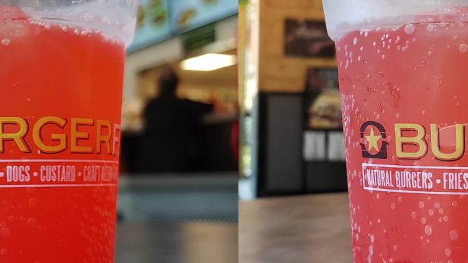 Ảnh chụp cận cảnh cho thấy sự khác biệt lớn về màu sắc giữa hai máy