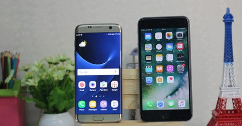 Cuộc chiến nảy lửa của Galaxy S7 Edge và iPhone 6S Plus