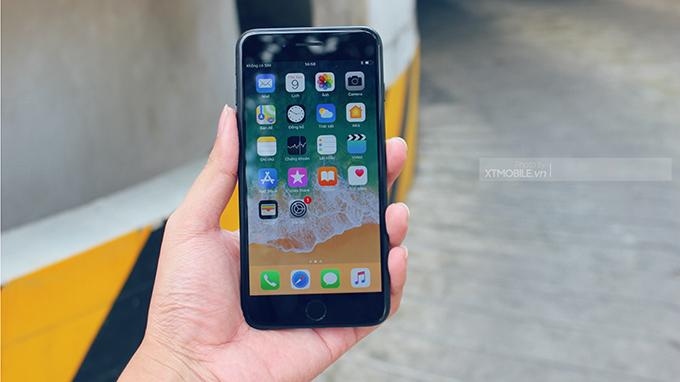 Màn hình iPhone 7 Plus cũ (bản quốc tế) sử dụng gam màu rộng