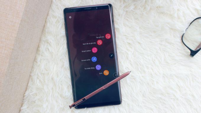 Galaxy Note 9 Hàn Quốc có kích thước lớn nhất năm 2018 của Samsung