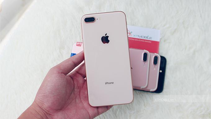 iPhone 8 Plus 256GB được ốp kính cao cấp cả 2 mặt