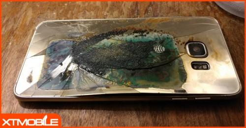 Đến lượt Samsung Galaxy S6 Edge cũng bốc cháy