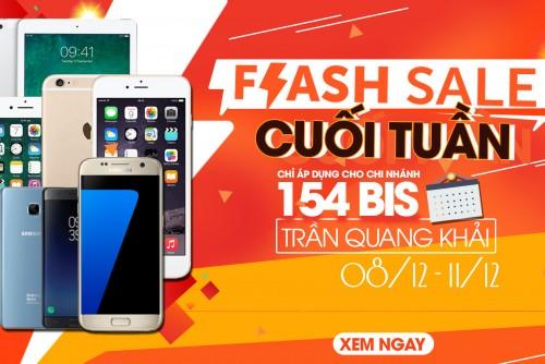 Kết thúc chương trình Flash sale cuối tuần tại 154Bis Trần Quang Khải