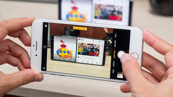 Camera trước iPhone 8 256GB cũ chụp ảnh rất đẹp khi có sự tham gia phần mềm thứ 2