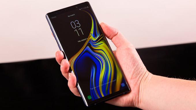 Màn hình Galaxy Note 9 512GB độ phân giải lên đến 2k