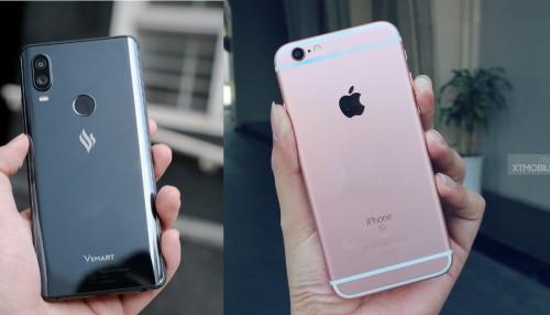 iPhone 6s và Vsmart Active 1: Giá hơn 4 triệu, chọn thương hiệu Việt hay Mỹ?