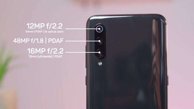 Camera Mi 9 8GB/128GB được nâng cấp vượt bật với 3 camera
