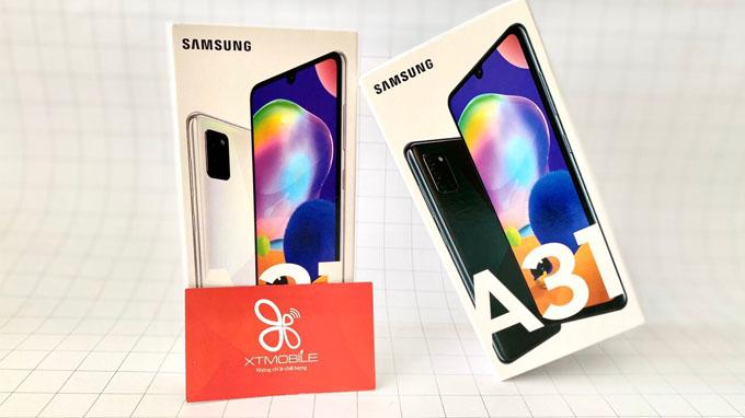 Galaxy A31 sở hữu thiết kế đặc trưng
