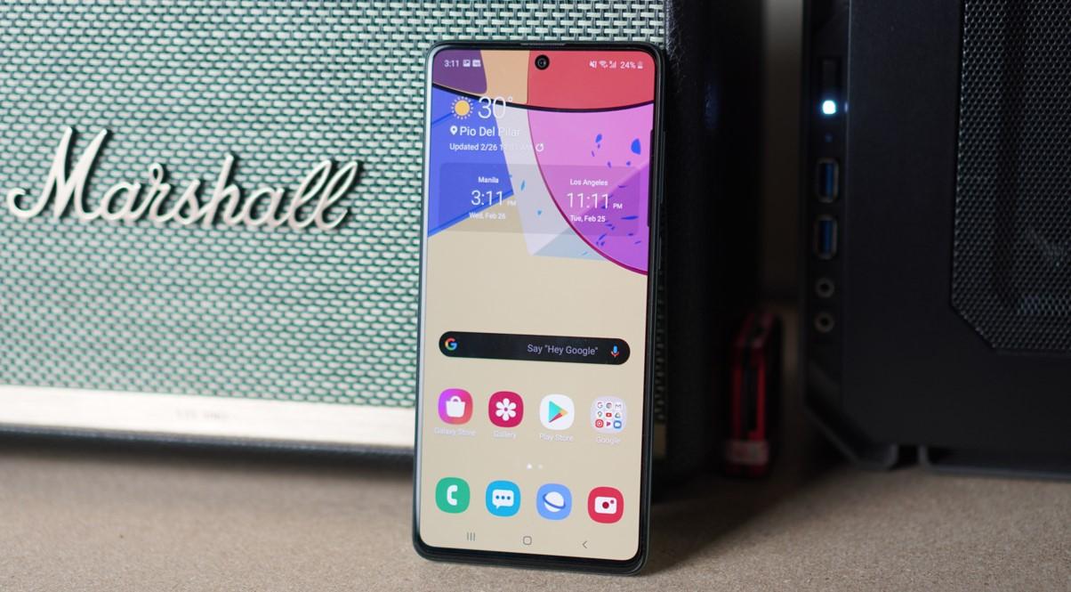 Galaxy A71 được cài sẵn hệ điều hành Android 10