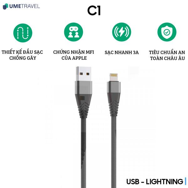Cáp Lightning Umetravel C1