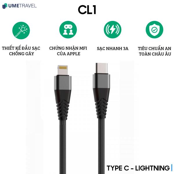 Cáp Type-C to Lightning Umetravel CL1 1m