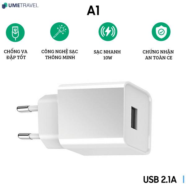 Củ sạc USB 2.1A Umetravel A1