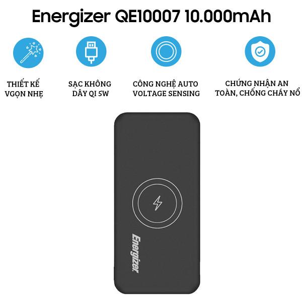 Pin dự phòng Energizer 10.000mAh QE10007BK