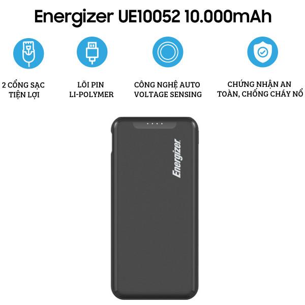Pin dự phòng Energizer 10.000mAh UE10052BK