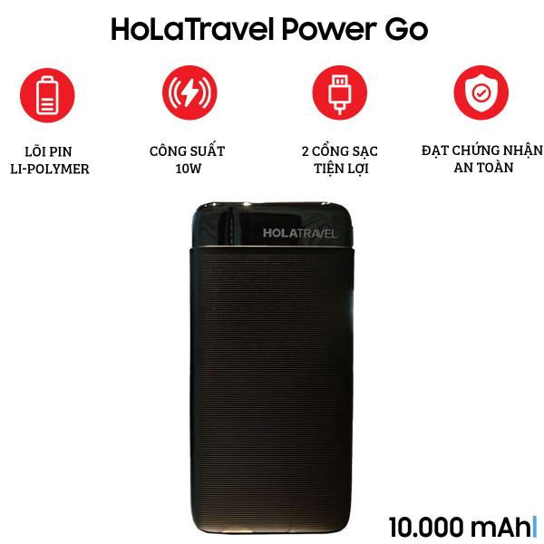 Pin sạc dự phòng HoLaTravel Power Go 10000mAh