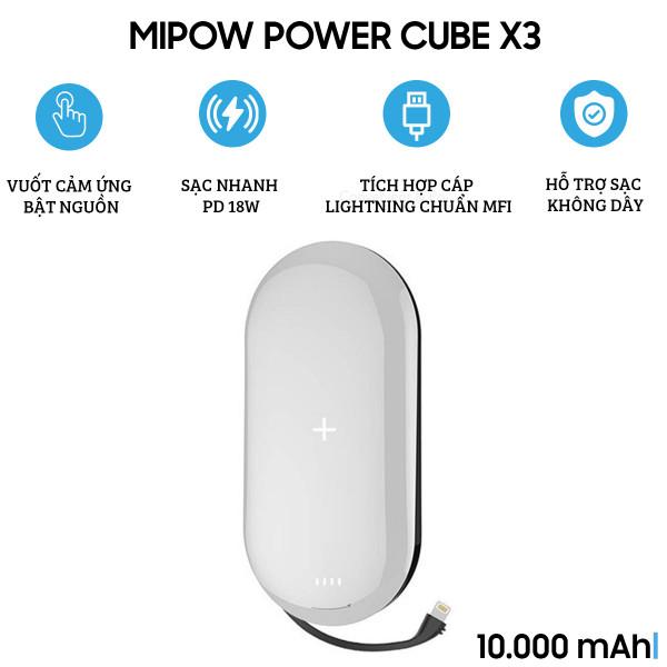 Pin dự phòng MiPow Power Cube X3 1000 Lightning