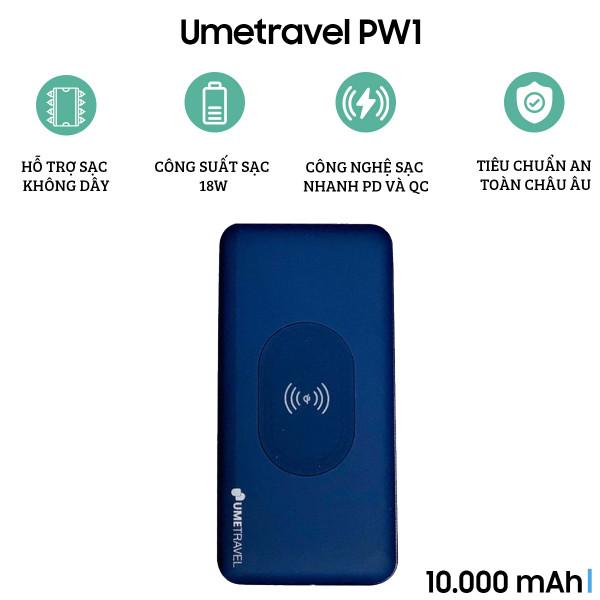 Pin dự phòng Umetravel PW1 10000mAh (Có sạc nhanh)