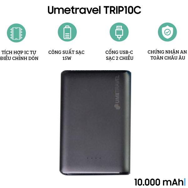 Pin dự phòng Polymer Umetravel TRIP10C 10000mAh