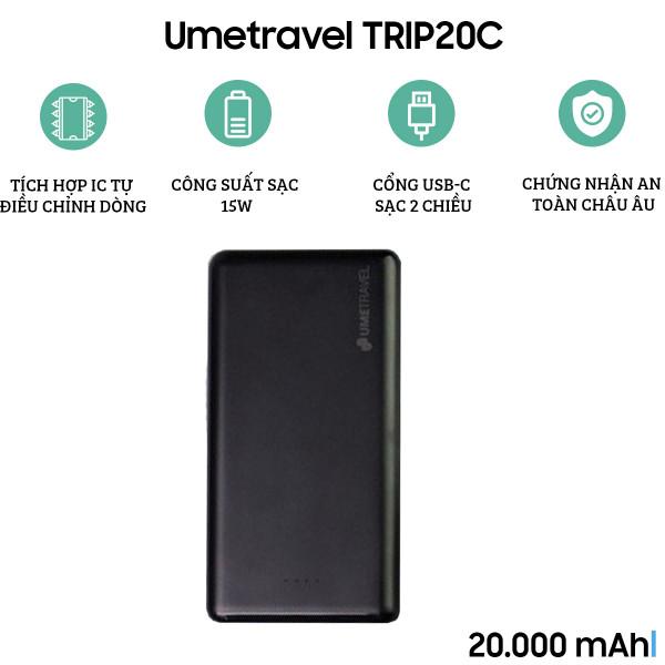 Pin dự phòng Umetravel TRIP20C 20000mAh