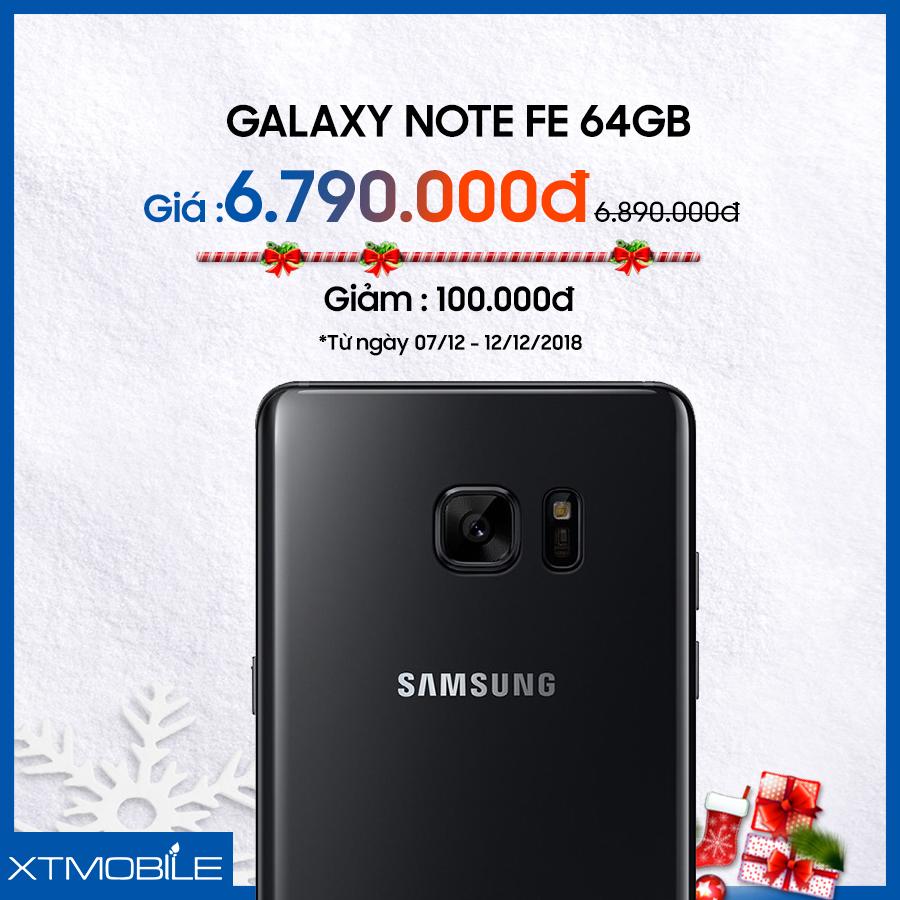 Galaxy Note FE 64GB cũ bản Hàn giảm 100 ngàn tại XTmobile