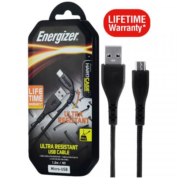 Cáp Micro-USB Energizer 1.2m - LIFETIME - C41UBMCGBKM