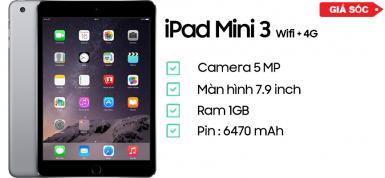 iPad Mini 3 Wifi + 4G likenew 99%