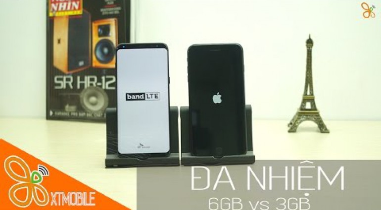 Đa nhiệm 6GB Ram S8 Plus vs iPhone 7 Plus