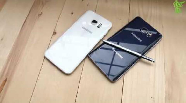 Vật Vờ So sánh chi tiết Samsung Galaxy S7 Edge và Galaxy Note 5