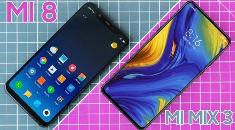 Xiaomi Mi 8 vs Mi Mix 3: Nên chọn máy nào?