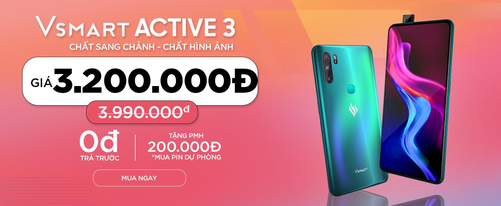 Vsmart Active 3 Chỉ 3.4 triệu