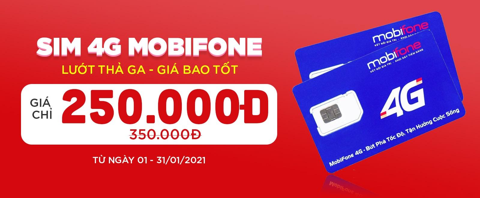 Sim 4G Mobifone Giá ưu đãi